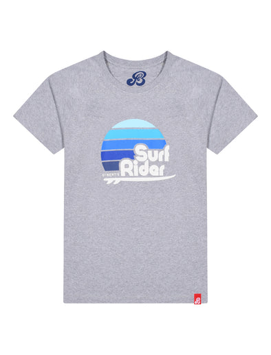 Men's T-Shirt Surf Rider - Nimbus Grey