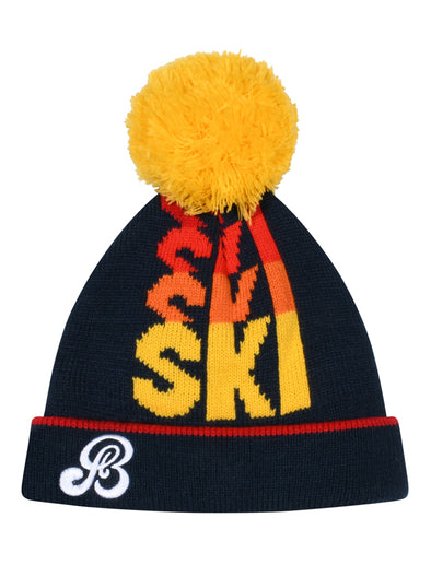 Kids SKI SKI SKI Bobble Hat