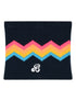 Kids Zigger-Zag Snood - Blue/Pink