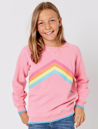 Kids Rainbow Sweatshirt - Sachet Pink - NEW IN!!