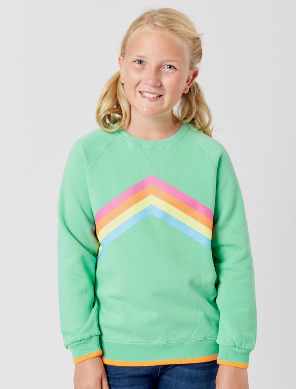 Kids Rainbow Sweatshirt - Fresh Green