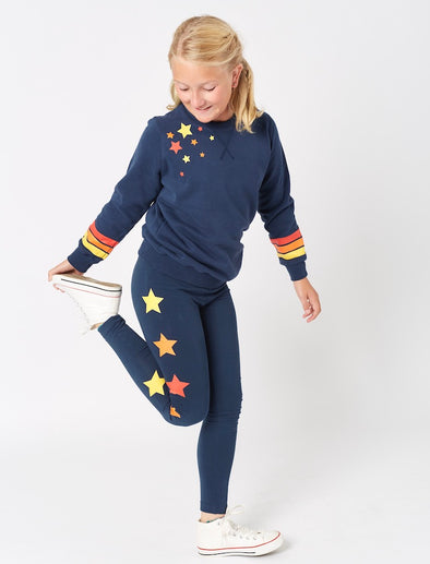 Kids Falling Star Sweatshirt - Dress Blue