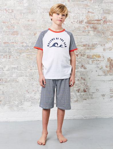 Boys Dreams PJs - Dress Blue/Cloud Dancer