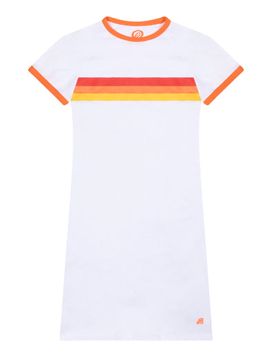 Womens T-Shirt Dress - Optic White