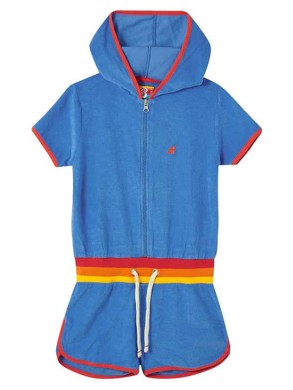 Hooded Playsuit - Marina Blue