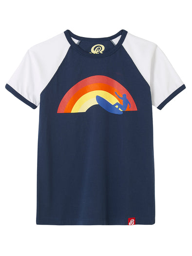 T-Shirt Rainbow Surfer - Dress Blue