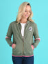 Women's Zip-Up Hoodie - Khaki Green