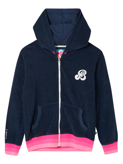Zip-Up Terry Hoodie - Dress Blue
