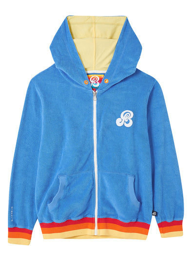 Zip-Up Terry Hoodie - Marina Blue