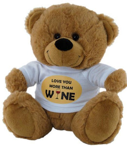 Love You More Than Wine Bear