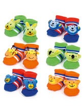 Load image into Gallery viewer, Tinkle Toes Rattle Socks