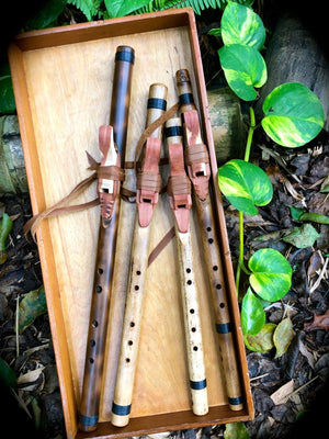 END BLOWN FLUTE - Kiowa Love Style (Kids) | Bamboo Body - Native American Style