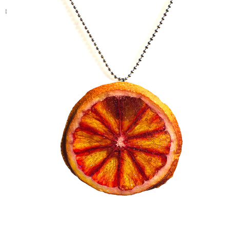 Blood Orange Fruit Necklace
