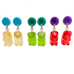 Gummy Bear Dot Earrings