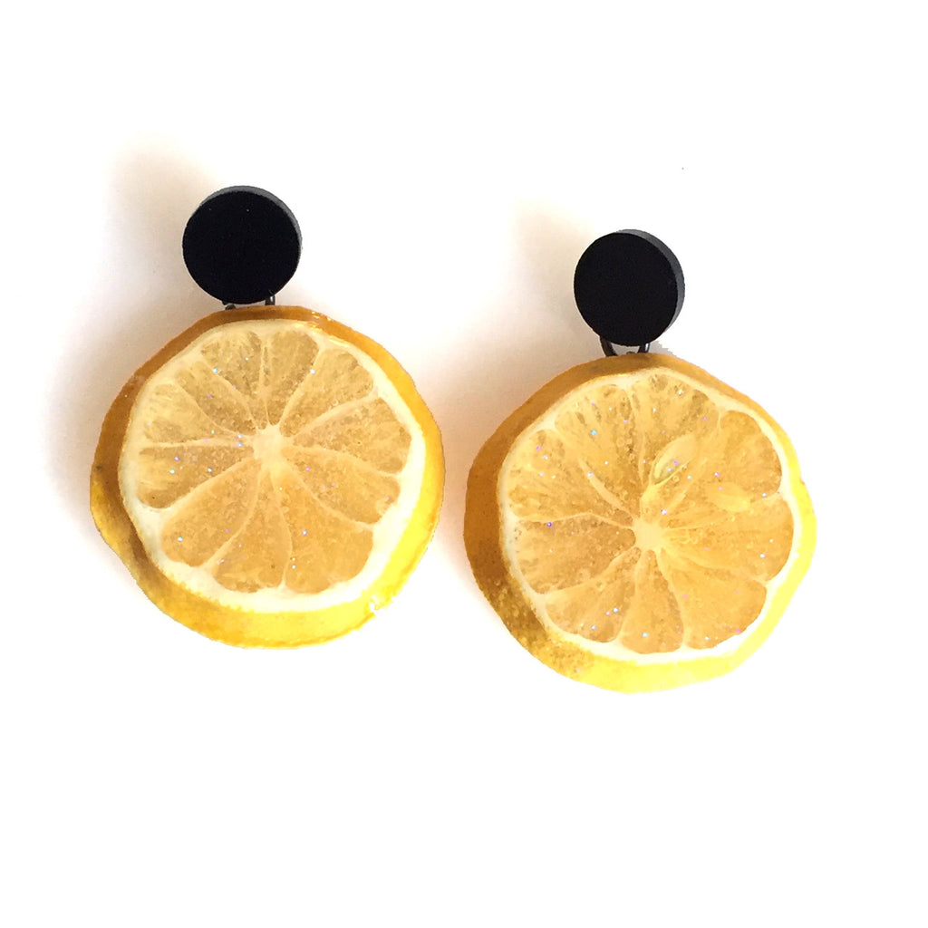 Lemon Dot Earrings