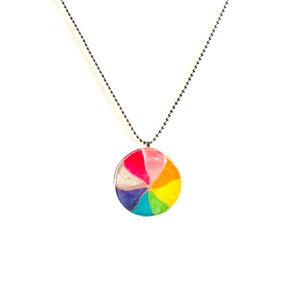 Japanese Pinwheel Necklace