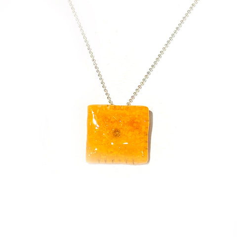 Cheese it Cracker Necklace