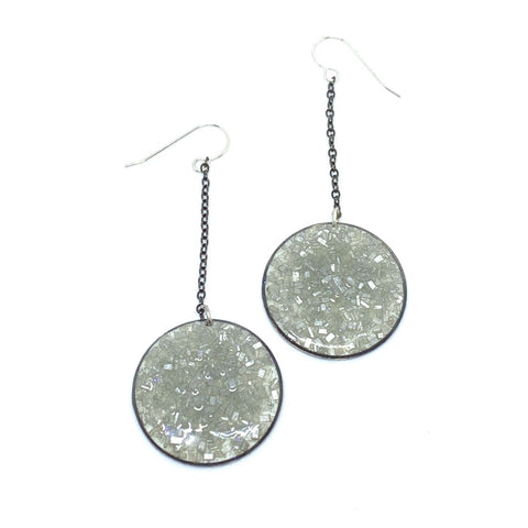 Disco Drops - Silver Earrings