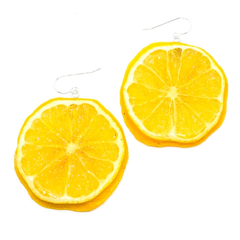 Real Lemon Earrings