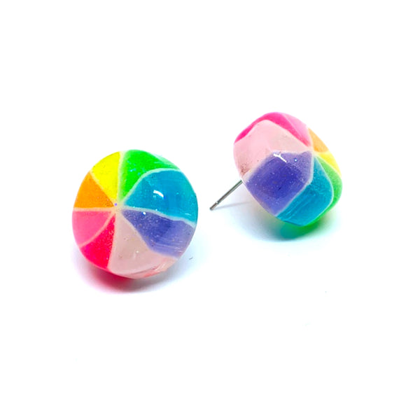 Japanese Pinwheel Candy Earrings