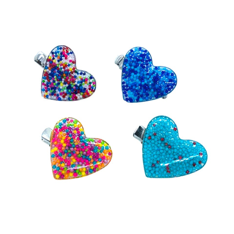 Heart Sprinkle Hair Clip