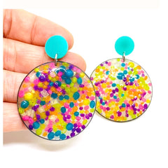 Rainbow Sprinkle Dot Earrings