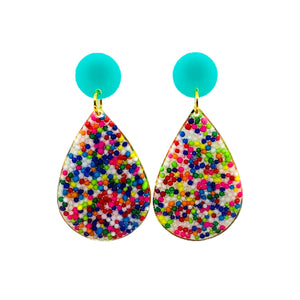 Sprinkle Teardrop Drop Earrings