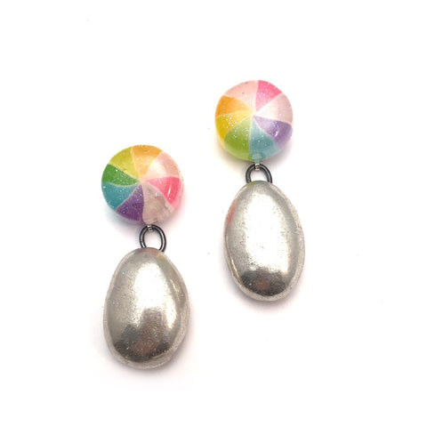 Pinwheel Gala Drop Earrings