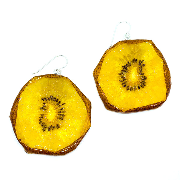 Golden Kiwi Earrings