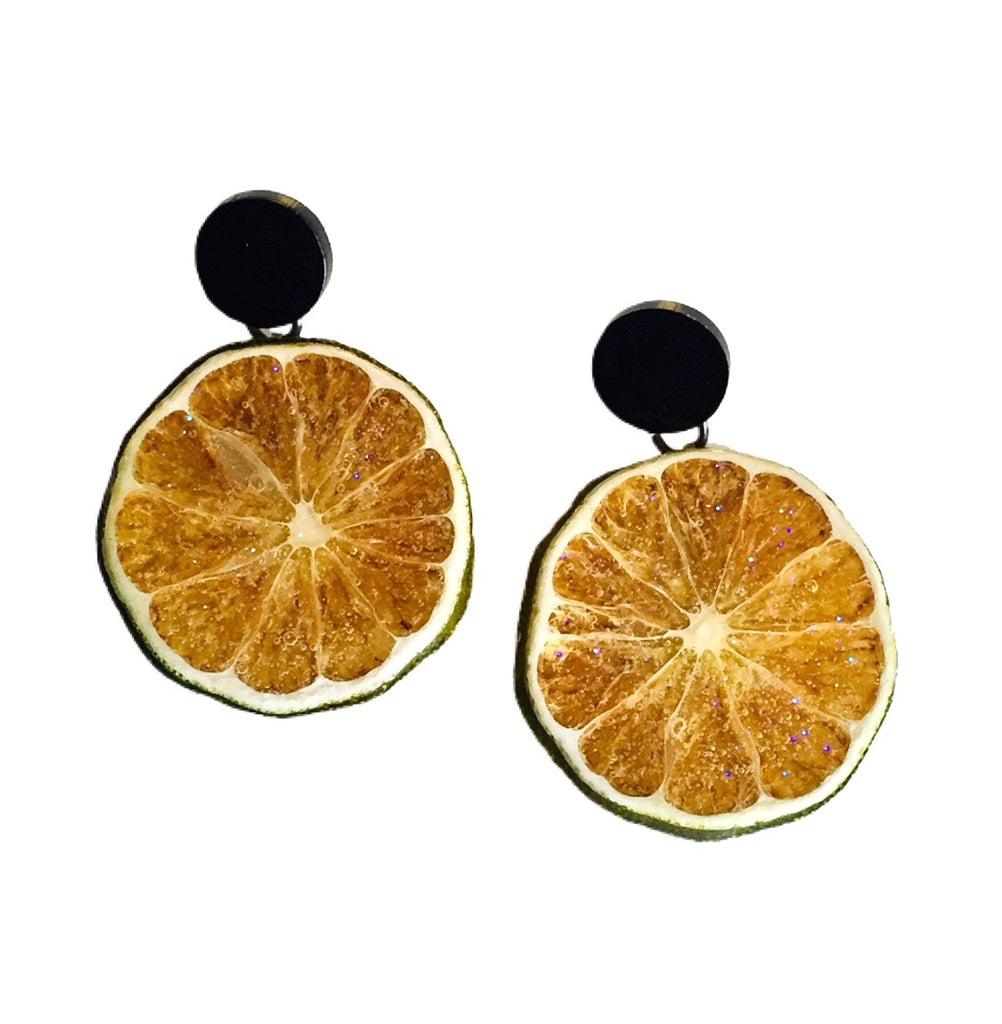 Lime Dot Earrings