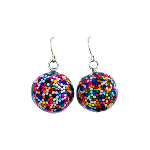 Sprinkles Licorice Candy Earrings