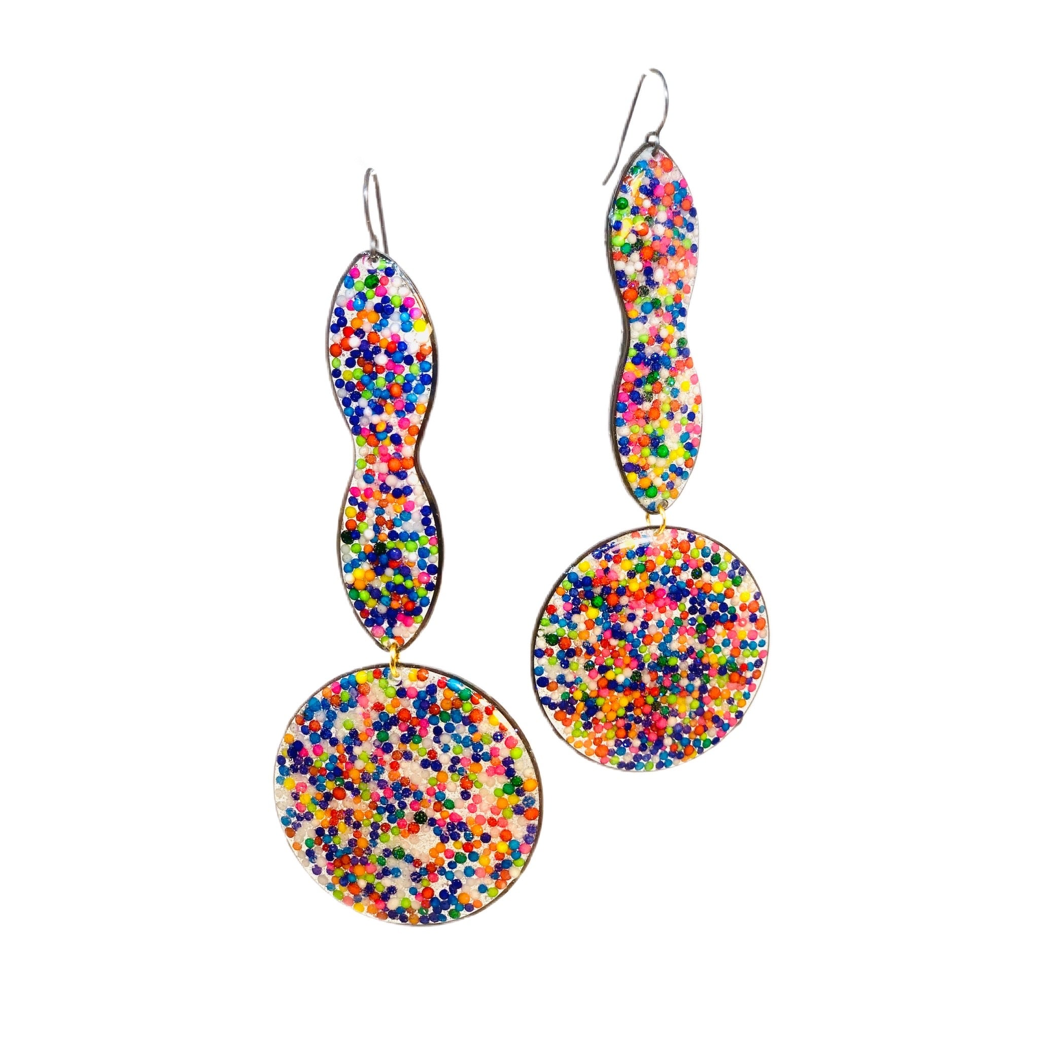 Venus Rainbow Sprinkle Earrings