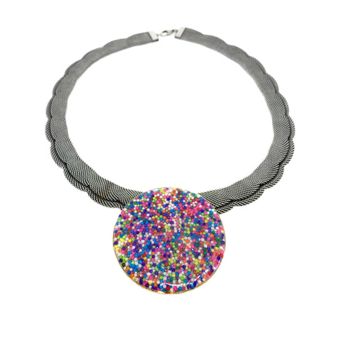 Sprinkle Scalloped Mesh Necklace