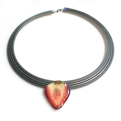 Mesh Necklace - Fruit