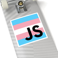 Trans Square Stickers
