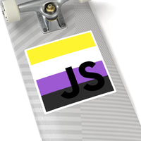NonBinary Square Stickers