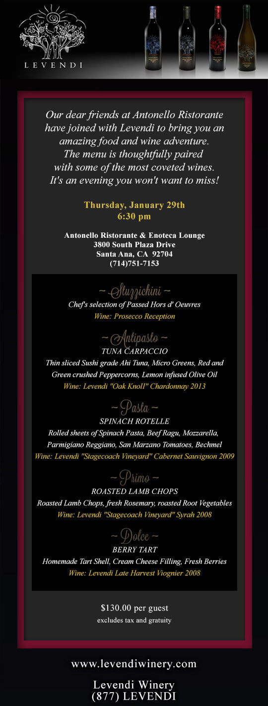 Antonello Wine Dinner