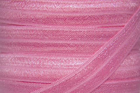 "Bubblegum Pink 5/8"" Fold Over Elastic"