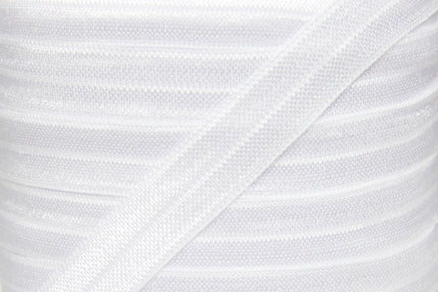 "White 5/8"" Fold Over Elastic"