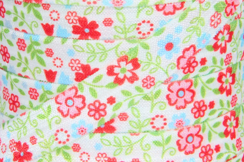 "Flower Print 5/8"" Fold Over Elastic"