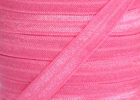 "Light Fuschia 3/8"" Fold Over Elastic"
