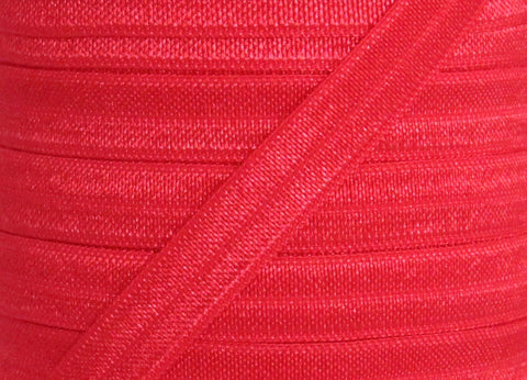 "Red 3/8"" Fold Over Elastic"