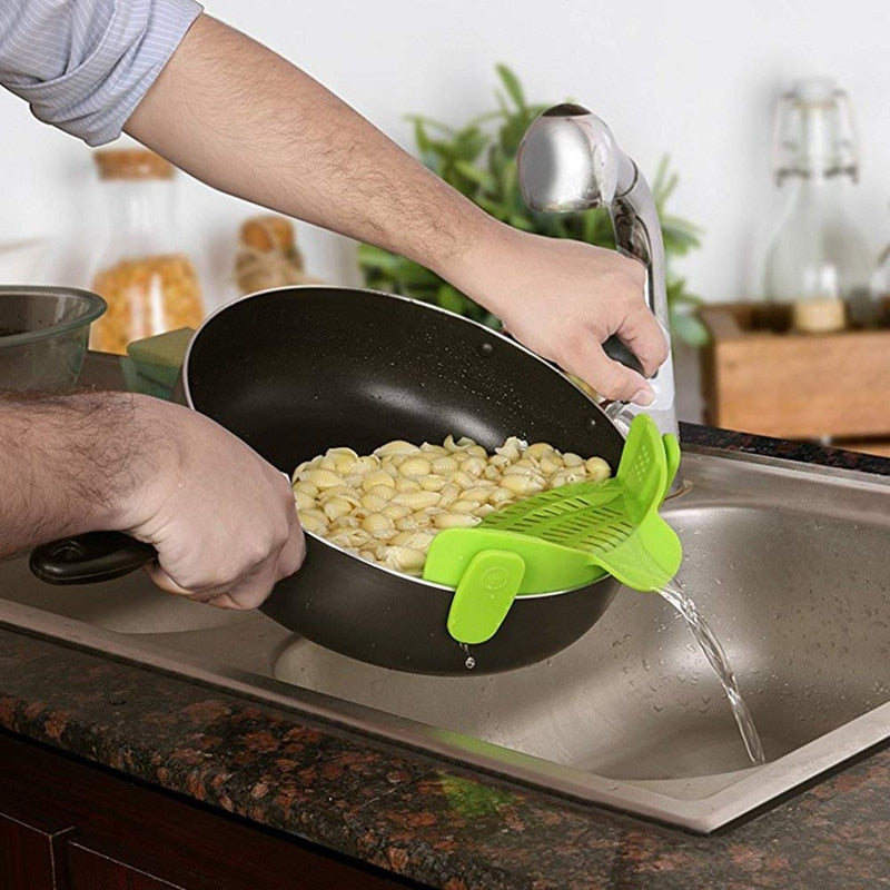 Universal Silicone Clip-on Pan Pot Strainer