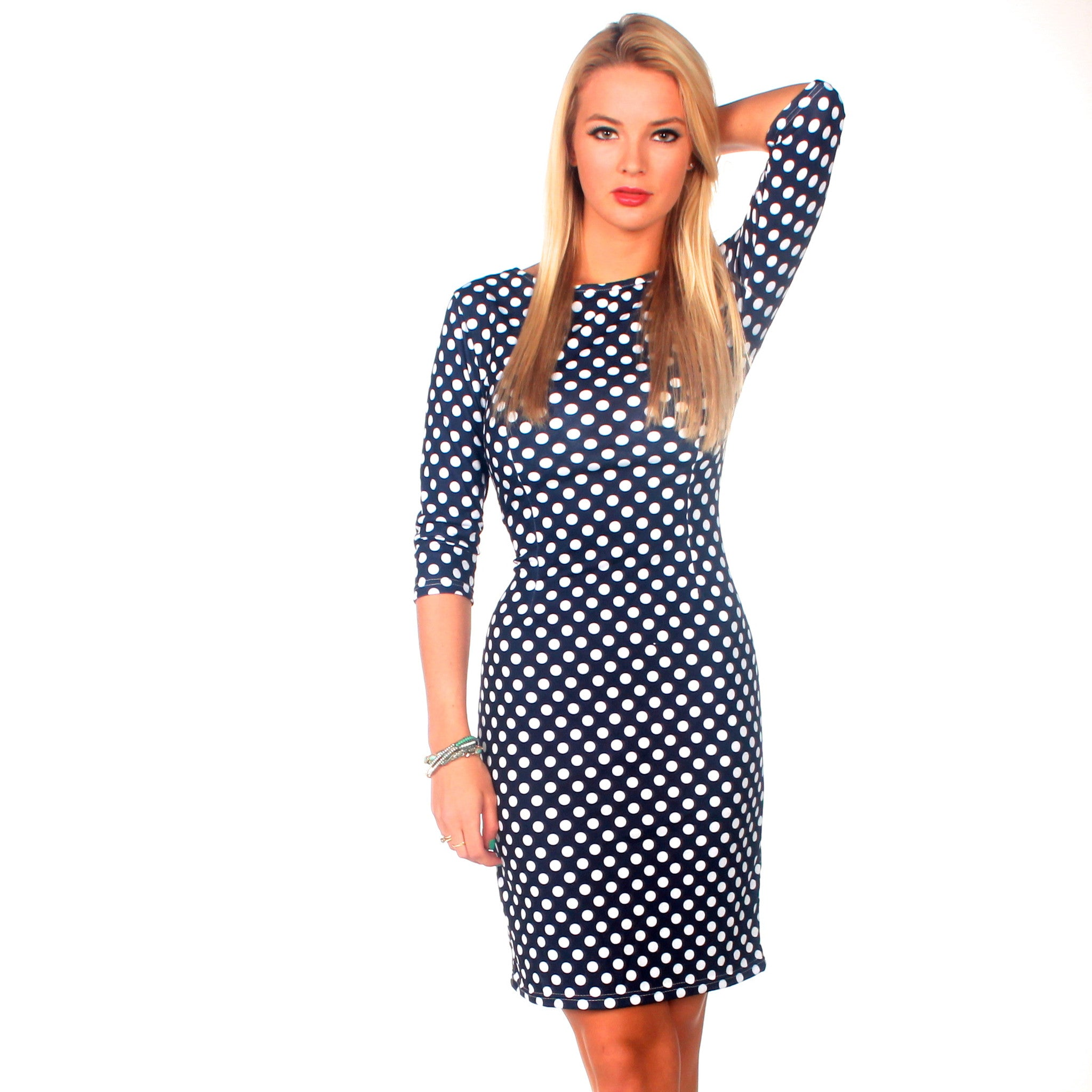 Blue Dress With White Polka Dots 5w32Y7pM