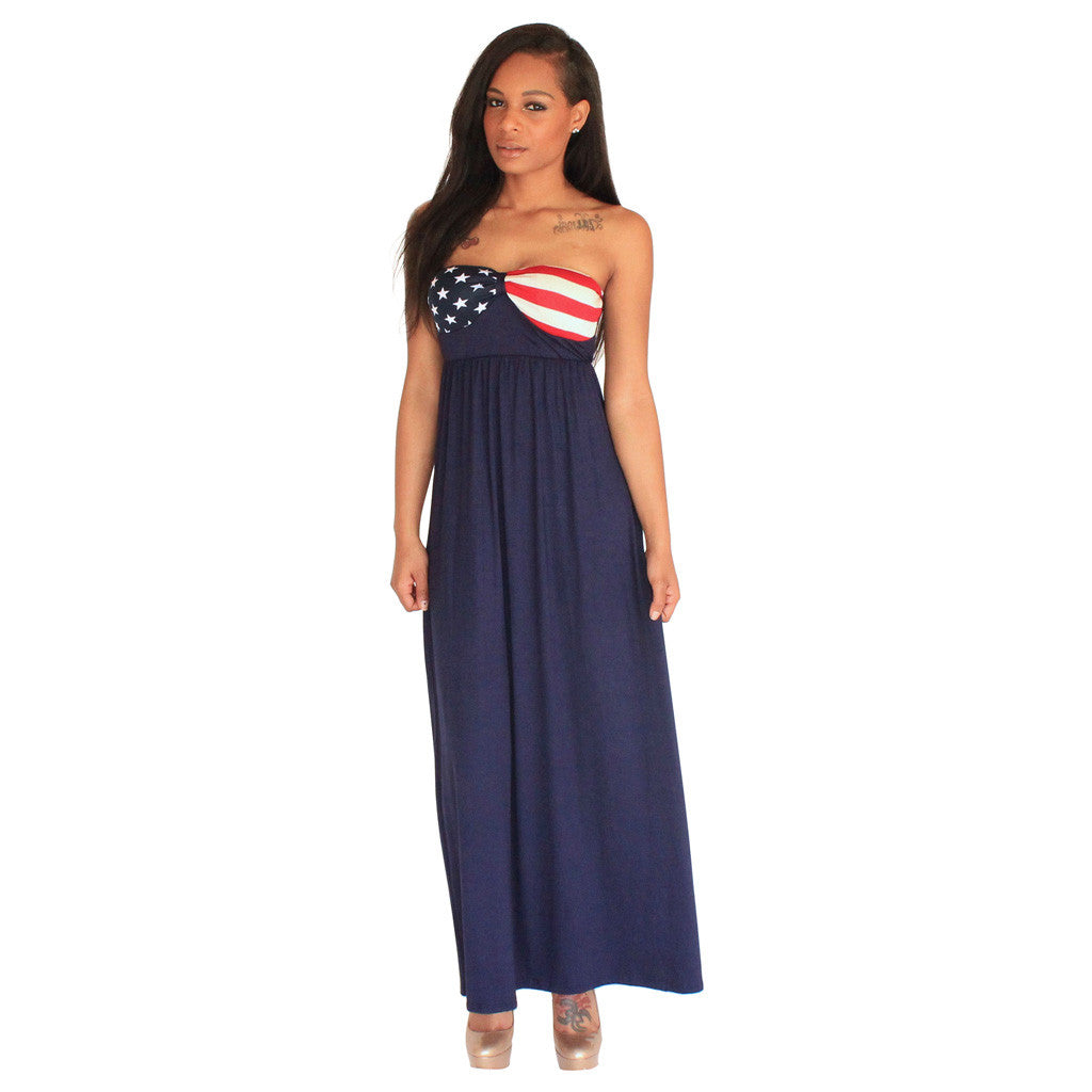 USA American Flag Maxi Dress | Love to be Chic offers the latest ...