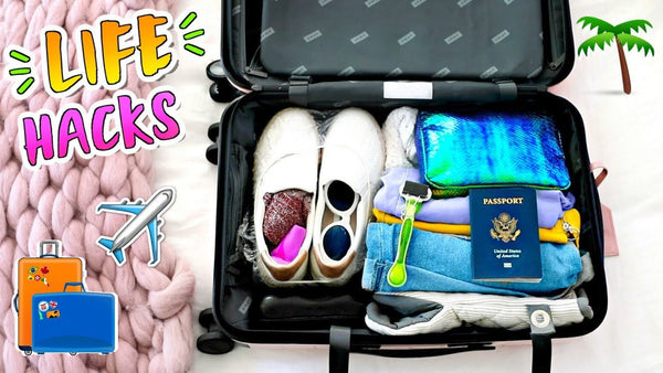 9 Travel Life Hacks + How to Pack for Vacation!!