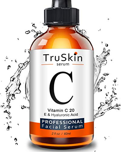 TruSkin Vitamin C Serum for Face [BIG 2-OZ Bottle] Topical Facial Serum with Hyaluronic Acid & Vitamin E, 2 fl oz.