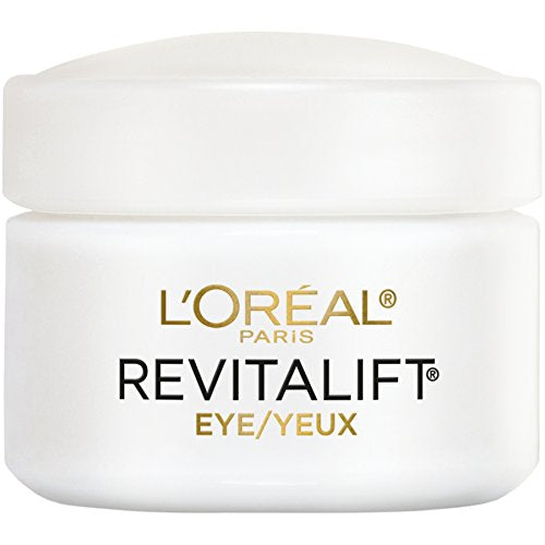L'OREAL Paris Skincare Revitalift Anti-Wrinkle and Firming Eye Cream Treatment with Pro-Retinol, Fragrance Free, 0.5 oz.
