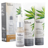 Vitamin C Skin Trio Bundle - 30 Day Starter Kit - Cleanser, Serum, Moisturizer Combo - Natural & Organic Anti Aging Face Treatment - Reduces Wrinkles, Dark Circles & Boost Collagen - InstaNatural