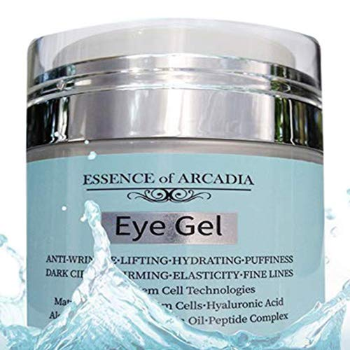 Eye Gel, for Dark Circles, Puffiness, Wrinkles, Skin Firming and Bags - Effective Anti-Aging Eye Gel for Under and Around Eyes including Crows Feet with Hyaluronic Acid and Aloe Vera- 1.7 fl. oz.
